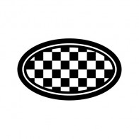 Racing Chequered Flag Oval 05036