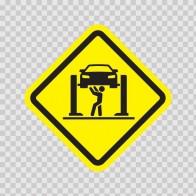 Mechanic Area Sign 05261