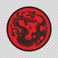 Traditional Dragon Martial Arts Red Black 05639