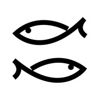 Simple Pair Of Fishes 05659