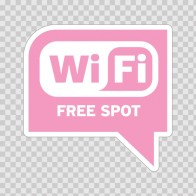 Wi Fi Free Spot Pink 05780
