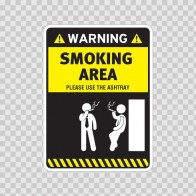 Smoking Area – Please Use The Ashtray 05788