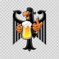 German Heraldic Eagle Drinking Beer 05813