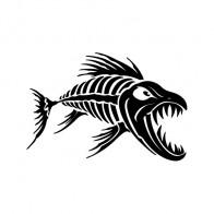 Aggressive Fish Skeleton 06100