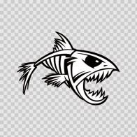Skeleton Fish Bones Skull  06165