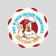 Restaurant Decor Fast And Fresh Chicken Sandwiches 06399