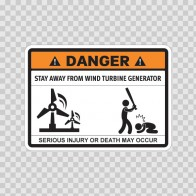 Funny Stay Away From Wind Turbine Generator 06567