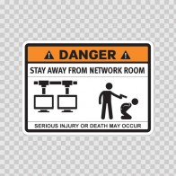 Funny Stay Away From Network Room 06577