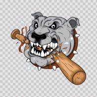 Bulldog Smashing Baseball Bat 07005