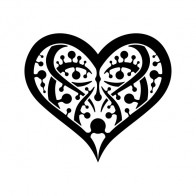 Tribal Design Tatto Style Heart 07493