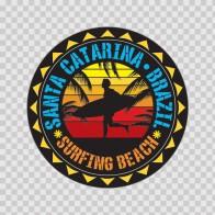 Santa Catarina Brazil Souvenir Memorabilia Surfing Beach 07630