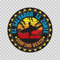 El Salvador El Zonte Souvenir Memorabilia Surfing Beach 07636