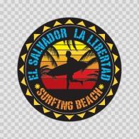 El Salvador La Libertad Souvenir Memorabilia Surfing Beach 07637