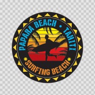 Papara Beach Tahiti Souvenir Memorabilia Surfing Beach 07641