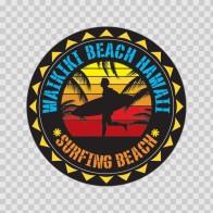 Waikiki Beach Hawai Souvenir Memorabilia Surfing Beach 07642