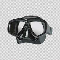 Scuba Diver Black Mask 07878