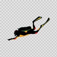 Scuba Diver Exploring 07885