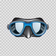 Scuba Diver Mask Blue 07891