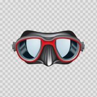 Scuba Diver Mask Red 07892