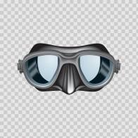 Scuba Diver Mask Grey 07893