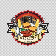 Barbeque Bbq Party Sign 07898