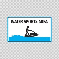 Water Sports Area Sign 08171