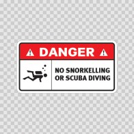No Snorkelling Or Scuba Diving 08237