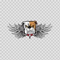 Racing Bulldog Emblem With Wings 08412