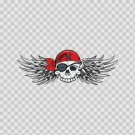 Skull Pirate With Wings 08415