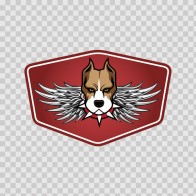 Racing Pitbull Emblem With Wings 08416
