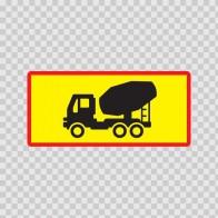 Back Vehicle Sign Concrete Truck 08425