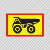 Back Vehicle Sign Dump Truck 08429