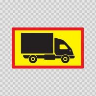 Back Vehicle Sign Medium Truck 08434