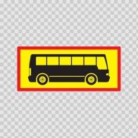 Back Vehicle Sign Mini Bus 08438