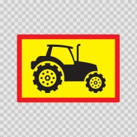 Back Vehicle Sign Tractor 08440