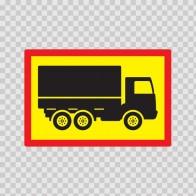 Back Vehicle Sign Truck 08446