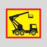 Back Vehicle Sign Crane Truck 08447