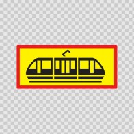 Back Vehicle Sign Tram 08450
