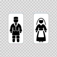 Wc Restrooms Sign Italy Man Woman Toilet Bathroom Lavatory 08663