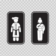 Wc Restrooms Sign Thailand Man Woman Toilet Bathroom Lavatory 08696