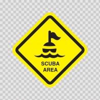 Scuba Area Sign 09010