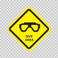 Dive Area Sign 09013