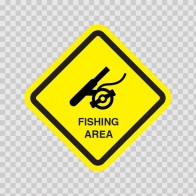 Fishing Area Sign 09015