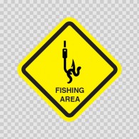 Fishing Area Sign 09018