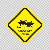 Snow Atv Area Sign 09028
