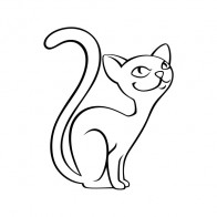 Domestic Cartoon Cat 09099