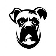 Dog Bulldog Head 09119