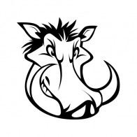 Razorback Wild Pig Head 09199