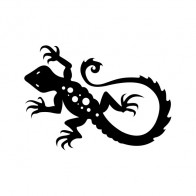 Simple color vinyl Lizard Gecko | Stickers Factory