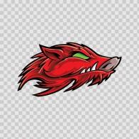 Razorback Red Wild Pig Head 09490